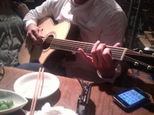 お外でギター